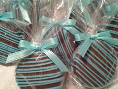 CUSTOM Listing For Suzee Milk Chocolate Covered Oreos Cookies Tiffany Blue Baptism Party Favors. $43.00, via Etsy.