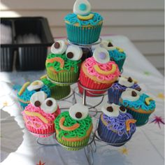 I'm thinking the (slightly older kids) can decorate their own monster cupcakes.  Ronin's birthday theme is Aquabats Super Show and they fight a lot of strange monsters.