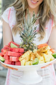 Mexican Style Fruit Plate with Chili Lime Salt