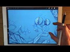 Apple Pencil drawing - How a doodle on iPad Pro turns into a painting, p...