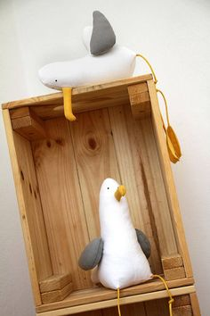 Seagull Peter whit Light Gray Wings/ Seagull Soft Toy/