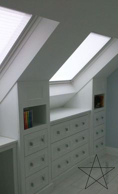 attic room ideas slanted walls, bedrooms, small attic room ideas, reading, low c. Slanted Wall Bedroom, Attic Bedroom Storage, Slanted Walls, Loft Storage, Attic Closet, Closet Bedroom, Diy Bedroom, Storage Ideas, Bathroom Storage