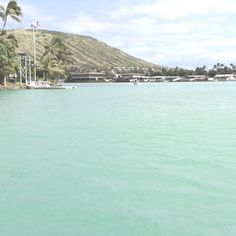 Nice day on the marina picture-perfect Hawaiian paradise.