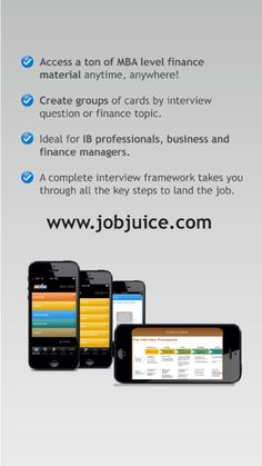 [iOS] Jobjuice Fin. & Inv. Banking ($14.99 to #Free) - Games & Apps Gone Free #iPhone Interview Questions, Free Iphone, Best Apps, Free Games, Ios, Investing, Finance, This Or That Questions