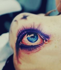 vivid eye tattoo on the back #eye #tattoo