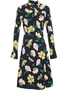 New Season, Marni Floral Crepe Dress from Farfetch
