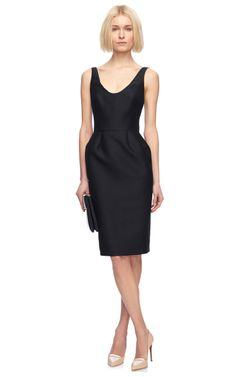 Wool and Silk Blend Fitted Dress by Martin Grant - Moda Operandi