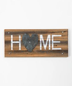 Another great find on #zulily! Metal Heart Home Wall Art by DelHutson Designs #zulilyfinds