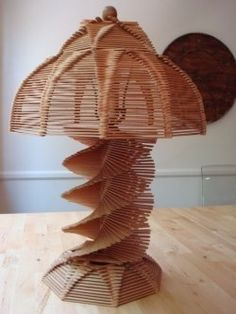 Popsicle Stick Lamp