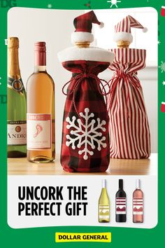 Head to Dollar General to save on great wine for the holidays. Quilted Christmas Gifts, Christmas Fabric Crafts, Homemade Christmas Gifts, Christmas Love, Holiday Crafts, Holiday Fun, Christmas Holidays, Christmas Ornaments, Harry Potter Christmas Decorations