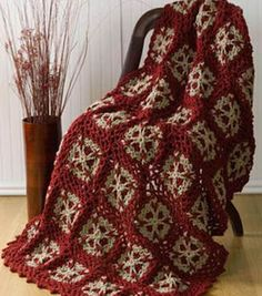 Crochet this pretty throw for a gift or for yourself!