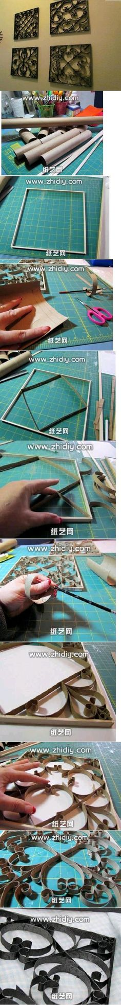 Aseo DIY rollo de papel decorativo Frame Proyectos DIY | UsefulDIY.com