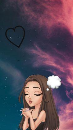 Cute Emoji Wallpaper, Cute Girl Wallpaper, Mood Wallpaper, Cute Disney Wallpaper, Cute Wallpaper Backgrounds, Aesthetic Iphone Wallpaper, Cartoon Wallpaper, Cute Wallpapers, Ariana Grande Anime
