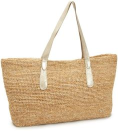 Flora Bella Women's Big Sur Tote, Natural/Silver, One Size $175.0
