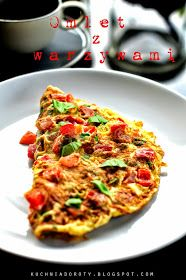 omlet, omlet z warzywami Diet Recipes, Diet Meals, Vegetable Pizza, Lunch, Vegetables, Breakfast, Ethnic Recipes, Fitness, Food