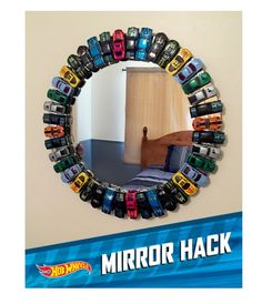Mirror with hot wheels