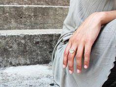 Minimalist Sterling Silver Ring - Sheet & Tube Large