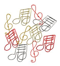 music paper clips