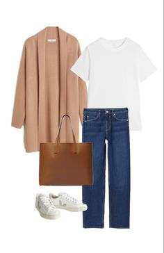 Casual Chic Style, Work Casual, Basic Outfits, Simple Outfits, Minimalist Wardrobe, Minimalist Fashion, Look Fashion, Fashion Outfits, Classic Fashion