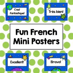 Fun French Mini Posters