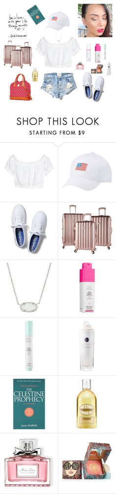 """Untitled #1322"" by mledoll ❤ liked on Polyvore featuring OneTeaspoon, Charlotte Russe, Keds, Kendra Scott, Drunk Elephant, Tatcha, L'Occitane, Christian Dior and Benefit"