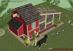 The Finished Coop and Run The Magic Chicken Coop100% FREE Plan Reveals .. Easy-To-Follow, Step by Step How to Build