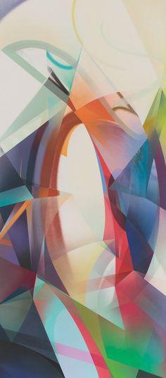 RAPHAEL BORER AND LUKAS OBERER - UNTITLED - ARTSTÜBLI  http://www.widewalls.ch/artwork/raphael-borer-and-lukas-oberer/untitled-03/ #painting