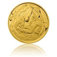 Zlatý dukát k narození dítěte 2015 s věnováním proof   Česká mincovna Personalized Items, Diet