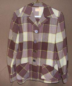 Vintage Pendleton Women's 49er Wool Jacket  $60 40s Fashion, Fashion Art, Vintage Clothing, Vintage Outfits, Regional, Frocks, Ralph Lauren, Plaid, Blazer