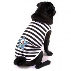 Für alle modebewussten Seeräuber - das Hundeshirt Pirate.