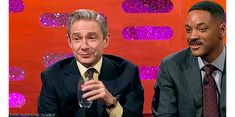 "sherlockspeare: ""Martin being cute and adorable on The Graham Norton Show Requested by victorianlovers """