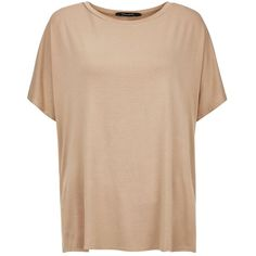 Camel Oversized T-Shirt ($14) ❤ liked on Polyvore featuring tops, t-shirts, short sleeve t shirts, camel top, beige top, short sleeve tees et camel t shirt