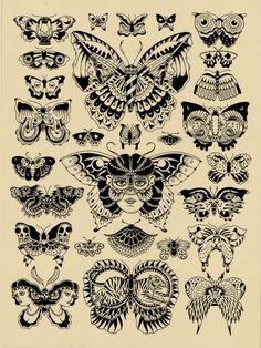 Vintage Butterfly Tattoo, Skull Butterfly Tattoo, Butterfly Man, Butterfly Tattoo Meaning, Moth Tattoo, Butterfly Tattoo Designs, Tattoo Old School, Watercolour Tattoo Men, Ribbon Tattoos