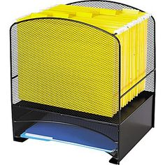 Safco® Onyx Mesh Hanging File Organizer with 2 Horizontal Sorters
