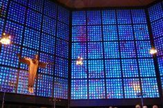 Gabriel Loire, Windows of the Kaiser Wilhelm Memorial Church in Berlin Gedächtniskirche Berlin, West Berlin, Berlin Germany, Kilroy Was Here, Stained Glass Church, Kaiser Wilhelm, Air Raid, Places Of Interest, Amazing Adventures