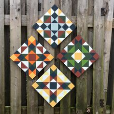 """One """"pattern"""" done 4 different ways Quilt Square Patterns, Barn Quilt Patterns, Square Quilt, Shed Signs, Barn Signs, Barn Quilt Designs, Quilting Designs, Star Quilts, Quilt Blocks"""