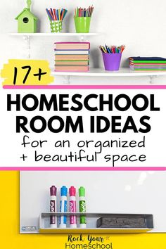 Create an outstanding and beautiful learning space at home with these 17+ homeschool room ideas. Incredible ways to make the most of this special space! #homeschoolroomideas #homeschoolroom #homeschoolspace #homeschooldecor Homeschool Curriculum, Homeschooling, Maps For Kids, Alphabet Cards, Book Organization, Spelling Words, Wall Maps, Learning Spaces, Dry Erase Board