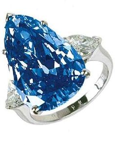 Graff Unnamed Blue -- (Not to be confused with the Graff Imperial Blue) We don't know much about this particular stone, except that is 6.19 carats
