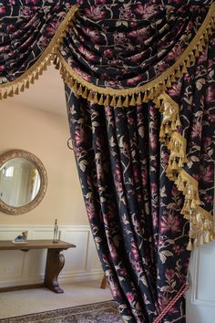 Royal Black 16 Classic Overlapping Style Swag Valance Curtain Set  http://www.celuce.com/p/564/classic-overlapping-swag-valances-curtain-drapes-royal-black-16