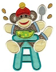 Sock Monkey Babies Applique 7 - 2 Sizes! | Baby | Machine Embroidery Designs | SWAKembroidery.com Designs by Juju