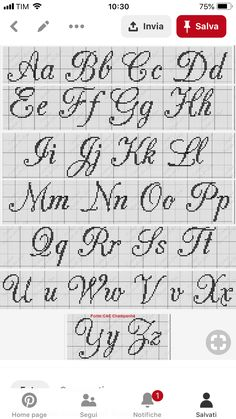 Scrittura Cross Stitch Letters Crosses Stitch Patterns Projects To Try Cross Stitch Alphabet Embroidery Stitches Cross Stitch Embroidery Names Crafts Monogram Cross Stitch, Just Cross Stitch, Cross Stitch Kits, Cross Stitch Designs, Crochet Alphabet, Cross Stitch Alphabet Patterns, Stitch Patterns, Crochet Letters, Alphabet Charts