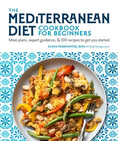 This is the only guide you'll need to get started on the authentic Mediterranean diet! The Mediterranean Diet Cookbook for Beginners is packed with everything you need to know about the Mediterranean Diet: guidance, menu plans, lifestyle advice, cooking tips, a comprehensive food list and 100 delicious recipes! #mediterraneandiet #mediterranean #diet #beginners #cookbook #recipes #menuplan #14day Mediterranean Diet Book, Easy Mediterranean Diet Recipes, Cookbooks For Beginners, Diets For Beginners, Easy Cooking, Cooking Recipes, Healthy Recipes, Delicious Recipes, Cookbook Recipes