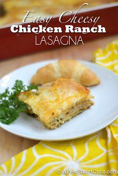 Yummy Dinner Idea! Easy Cheesy Chicken Ranch Lasagna #recipe