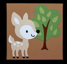Woodland Animals Deer Nursery Baby Children's Room Decor Wall Art  Baby Shower Gift, Newborn Present  www.diannasdiapercakes.com