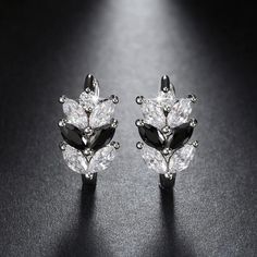 New Leaf Style Earring with Marquise Cut