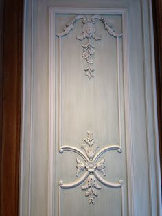 Small hand carved boiserie panel designed for a NYC living room. Hand carved, manufactured & designed by Auffrance.
