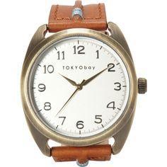 Amazon.co.jp: TOKYObay [トーキョーベイ] メンズ腕時計 スミス タン Men's Smith Tan T363TAN: 服&ファッション小物