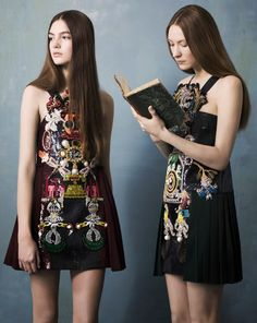 mk: erika wall scarlett and gray by well-toms for salt magazine # 9 - Mary Katrantzou Fall 2014