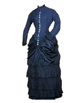 Dress, wedding (woman's). 1882  Satin weave; Twill weave; Braided, machine  Henry Art Gallery, gift of Mrs. George A. Howe and Mrs. Eliot Greb, 1953, 77.8-24, t1-t2