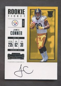 9d888306202 2017 Panini Contenders James Connor Auto Rookie STEELERS